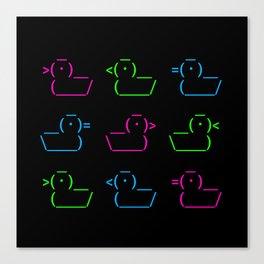 ASCII Ducks Canvas Print