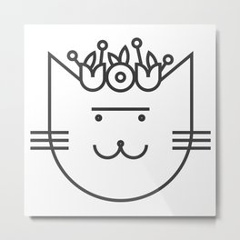 Cat Frida Metal Print