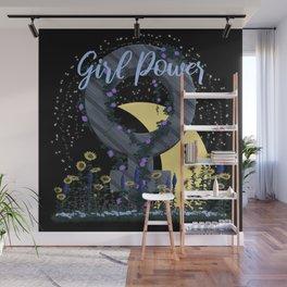 Girl Power - Moon & Stars Wall Mural