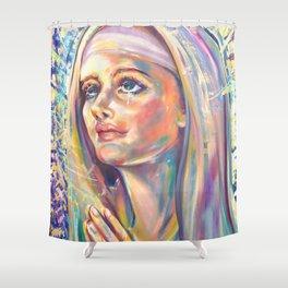 Saint Claire of Assisi, potrait Shower Curtain