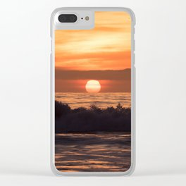 South Bay Sunset Clear iPhone Case