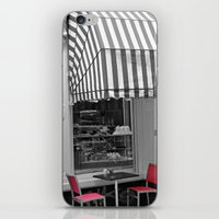 cafe iPhone & iPod Skins featuring Chic Cafe by DuniStudioDesign