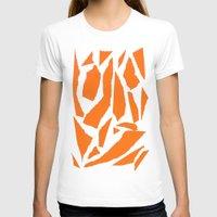 orange pattern T-shirts featuring Orange by osile ignacio