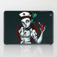 nurse iPad Cases featuring zombie nurse by Lyxy