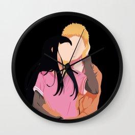 Naruto hug Hinata Basic Wall Clock
