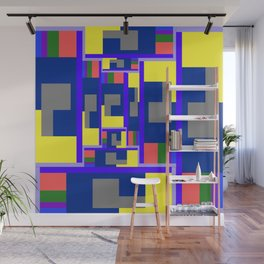 Mid-20th Century Abstraction, Hall of Mirrors Wall Mural