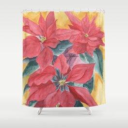 Poinsettia 2 Shower Curtain