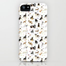 Various Dogs Pattern iPhone Case
