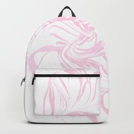 Original Marble Texture - Flamingo Blush Backpack