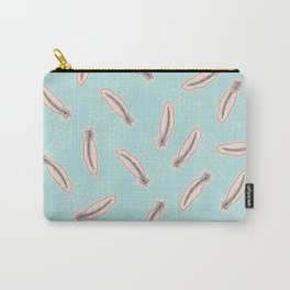 Pastel Feathers Small Carry-All Pouch