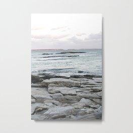 Frozen Maine Ocean Metal Print