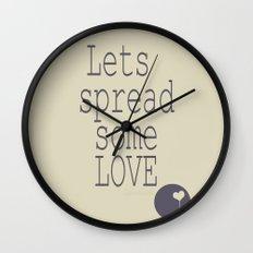 Spread Some LOVE Wall Clock