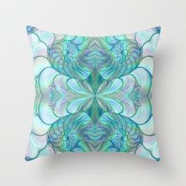 Abalone Shell Nautilus Kalidescope Throw Pillow
