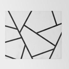 Black and White Fragments - Geometric Design I Throw Blanket