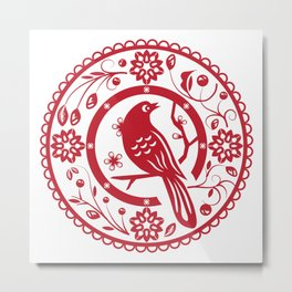 Traditional chinese paper cut Metal Print