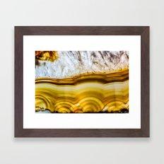 Amber Honey Agate Earth Framed Art Print