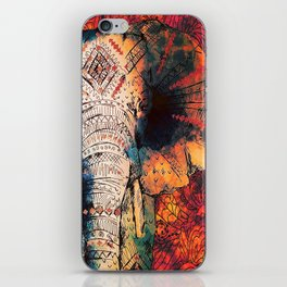 Indian Sketched Elephant iPhone Skin