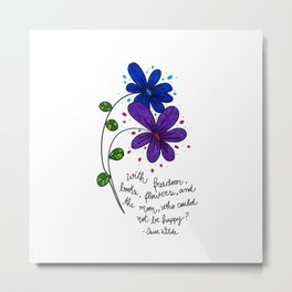 Flower happiness Metal Print