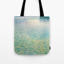 Island in the Attersee Gustav by Klimt Date 1902 // Abstract Oil Painting Water Horizon Scene Tote Bag