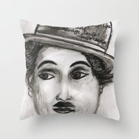 charlie Throw Pillows featuring Charlie by sladja