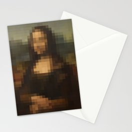 Mona Lisa Pixel Stationery Cards
