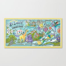 Map of Forest Park Canvas Print