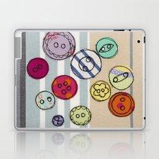 Embroidered Button Illustration Laptop & iPad Skin