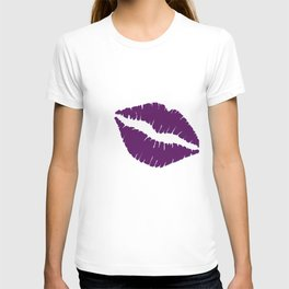 Violet Kiss with white Background T-shirt