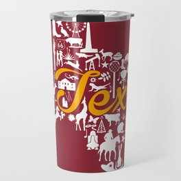 Schreiner Texas Landmark State - Maroon and Gold Schreiner University Theme Travel Mug