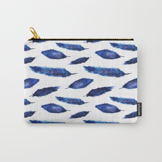 Starry feathers || watercolor Carry-All Pouch