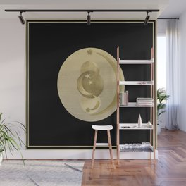 Black Gold Moon and Stars #1 #decor #art #society6 Wall Mural