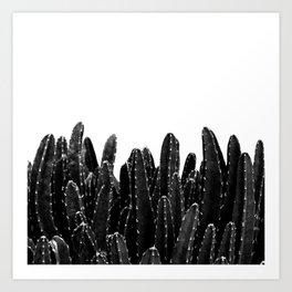 Black Cacti Dream #1 #minimal #decor #art #society6 Art Print