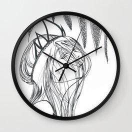 disinterested queen Wall Clock