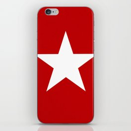 white star on red background iPhone Skin