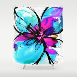 Ecstasy Bloom No.17 by Kathy Morton Stanion Shower Curtain