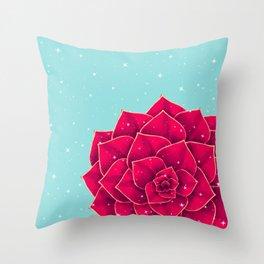 Big Holidays Christmas Red Echeveria Design Throw Pillow