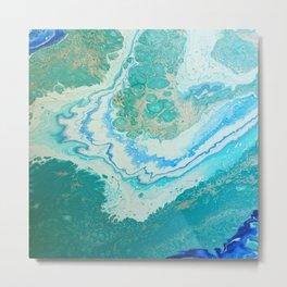 Coastal Waters Metal Print