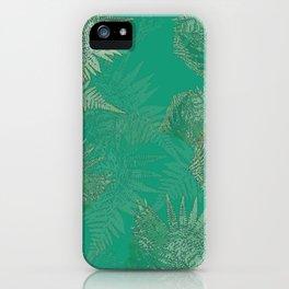 Emerald Ferns iPhone Case