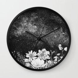 Galaxy in Bloom Wall Clock