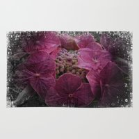 hydrangea Area & Throw Rugs featuring Hydrangea by Paul & Fe Photography