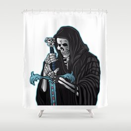 grim reaper with sword .grim reaper tattoo. Shower Curtain