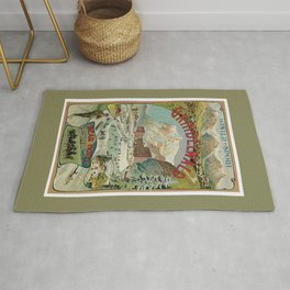Vintage Grindelwald Swiss winter sport travel advert Rug