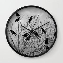 Murder Of Crows - Three Wall Clock