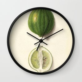 Vintage Illustration of a Lime Wall Clock