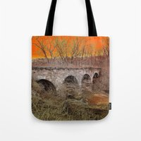 virginia Tote Bags featuring Virginia Bridge by Andooga Design