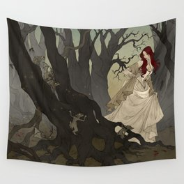 Through the Black Wood Wall Tapestry