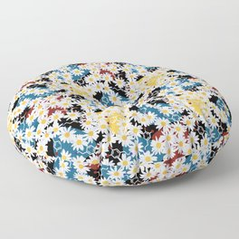 Dopamine and Daisies Floor Pillow