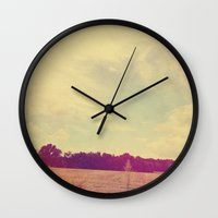 country Wall Clocks featuring COUNTRY by Allyson Johnson