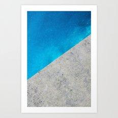 Concrete Ocean Art Print