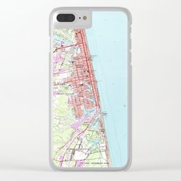 Vintage Map of Virginia Beach (1965) 2 Clear iPhone Case